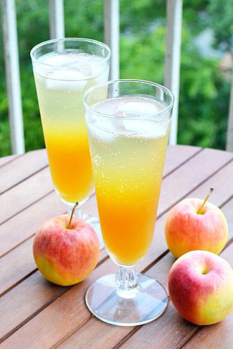 Fizzy Apple Cider Punch