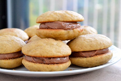 Banana Whoopie Pies with Nutella Buttercream Filling
