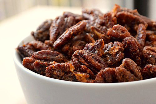 Candied Pecans (Adapted from the Judicial Peach's recipe )