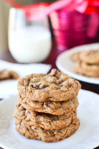 Chewy Chocolate Cherry Oatmeal Cookies