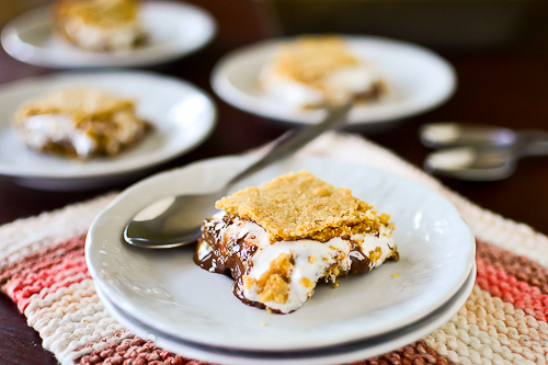 Nutella S&#8217;mores Bars