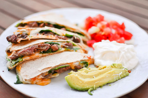 Steak and Spinach Quesadilla