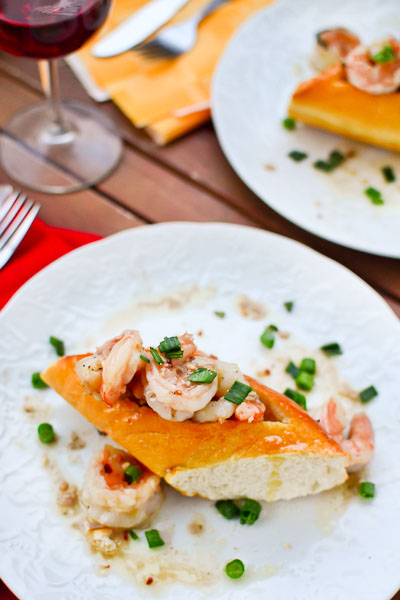 Garlic Butter Shrimp Boats