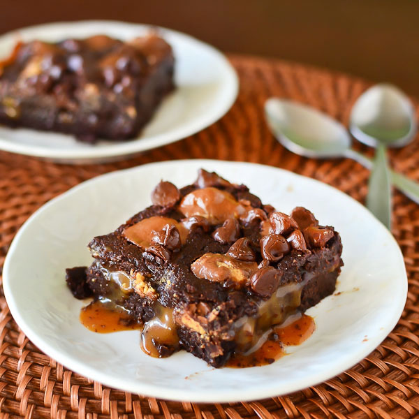 Caramel Peanut Butter Cup Brownies