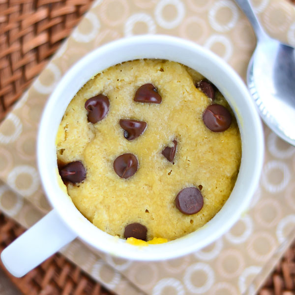 Single-Serving GF Chocolate Chip Mug Cookie